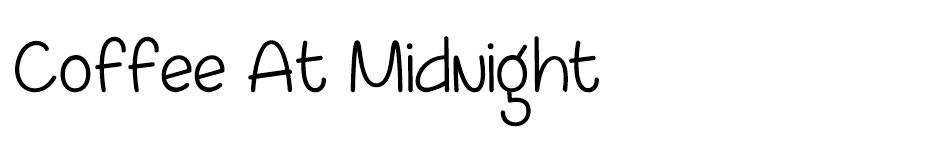 Coffee At Midnight font