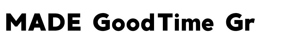 MADE GoodTime Grotesk font