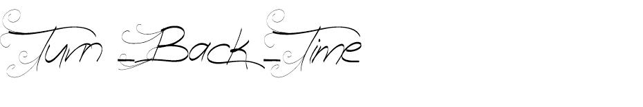 Turn Back Time font