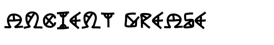 Ancient Grease  font