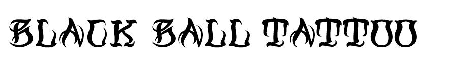 Black Ball Tattoo font