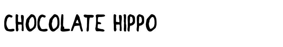 Chocolate Hippo font
