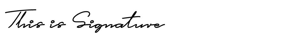 This is Signature font